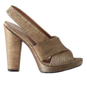 NWOT ANTHROPOLOGIE Gold Platform Sandal Shoe